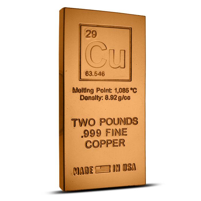 Elemental 2 lb Copper Bar