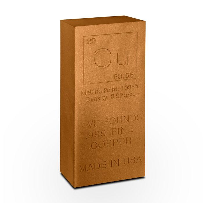 Elemental Cu 5 Pound Copper Bar