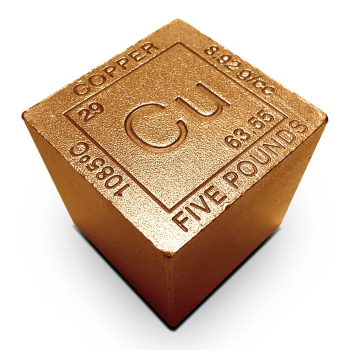 Elemental 5 lb Copper Cube