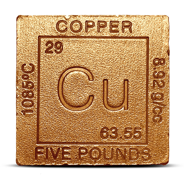 Elemental five pound Copper Cube