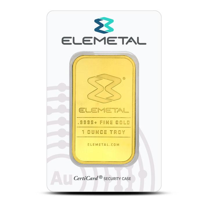 Elemetal one ounce Gold Bar