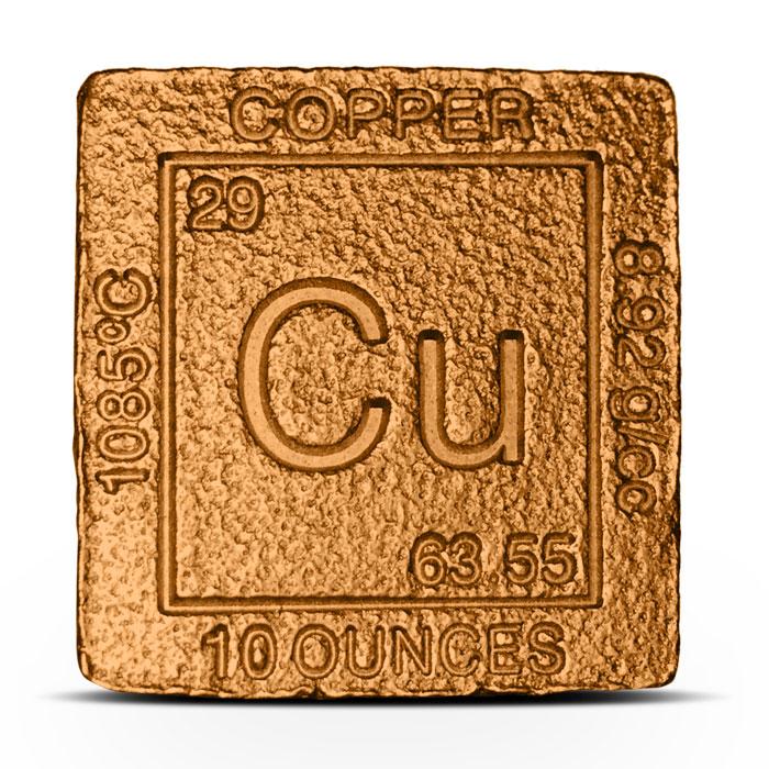 Elemental ten ounce Copper Cube