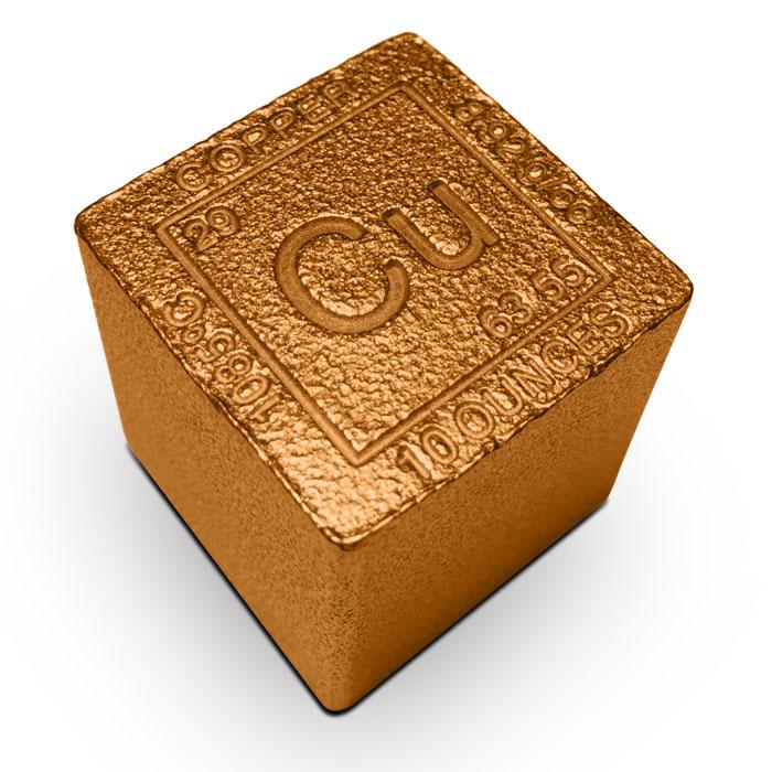 Elemental 10 oz Copper Cube