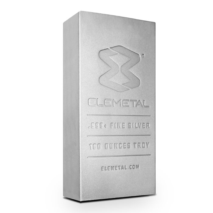 100 oz Silver Bar | Elemetal Mint