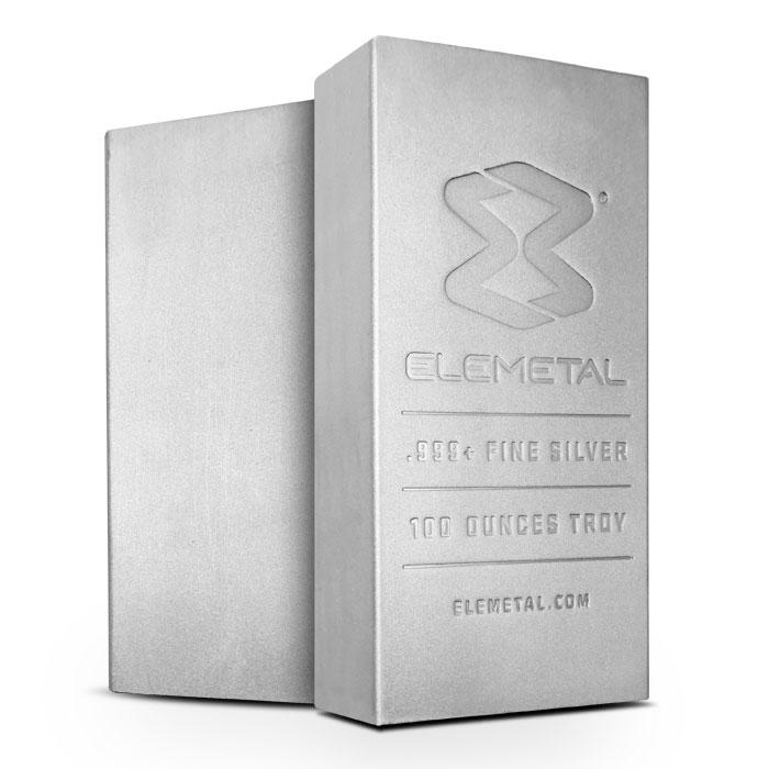 Elemetal 100 oz Silver Bar