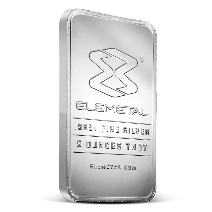 Elemetal five ounce Silver Bar