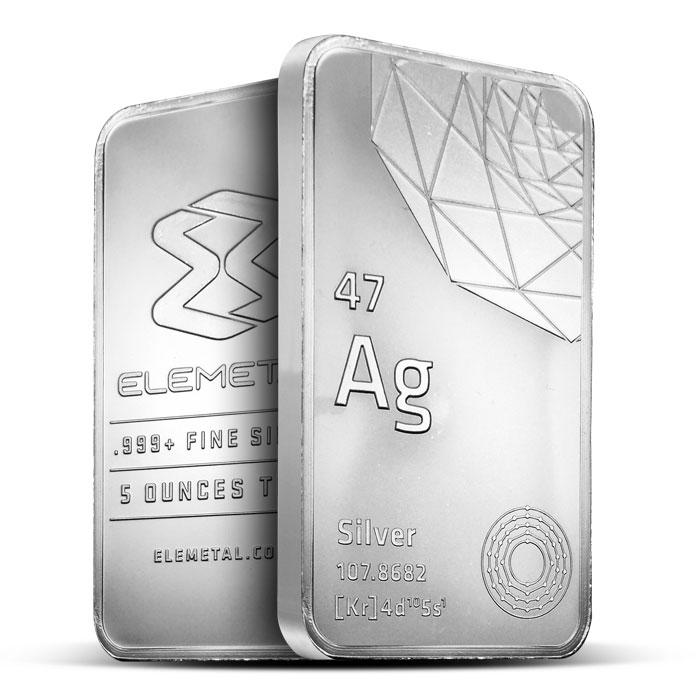 Elemetal 5 oz Silver Bar