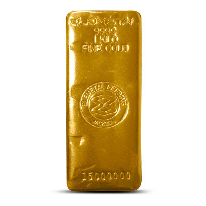 1 Kilo Gold Bar | Elemetal Mint