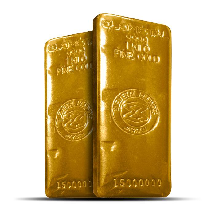 Elemetal 1 Kilo Gold Bar