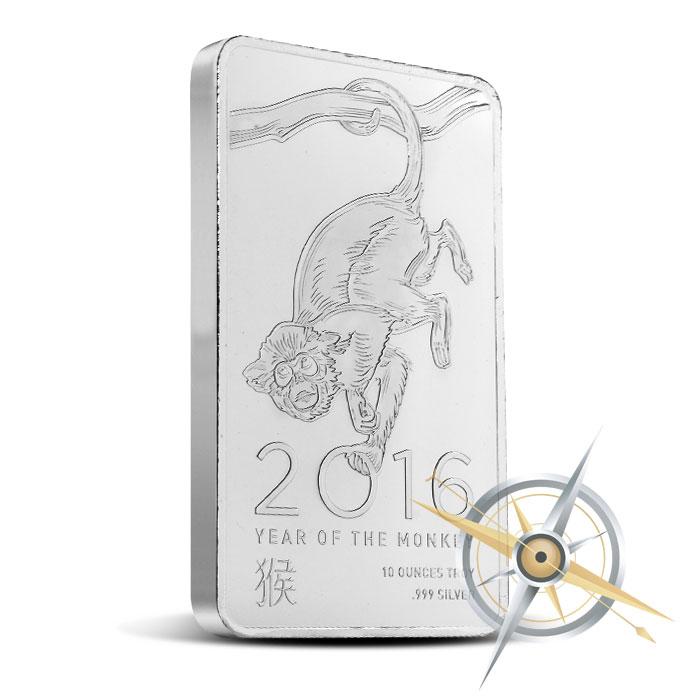 Elemetal 2016 Year of the Monkey   10 oz Silver Bar