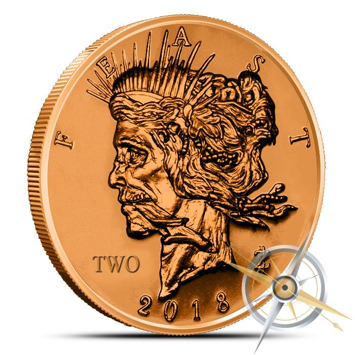 Zombucks Feast Dollar 1 oz Copper Round