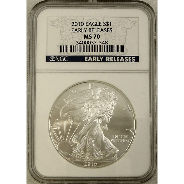 2010 Silver Eagle | NGC MS70 Early Release-0