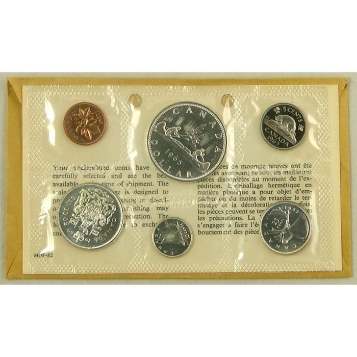 Canada Proof Like Coin Set 1962-67 Reverse