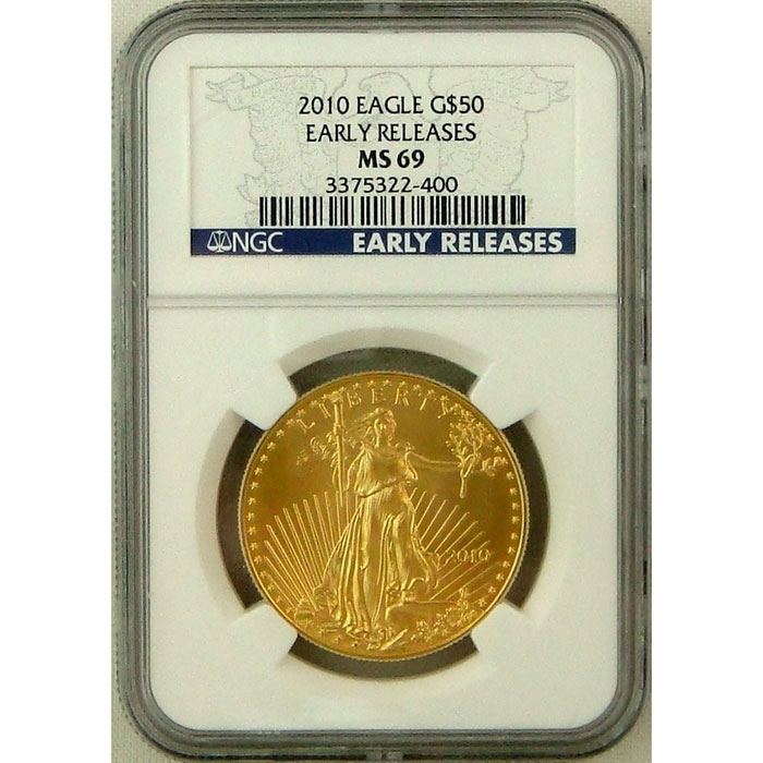 2010 $50 Gold Eagle NGC MS69 | Early Release-0