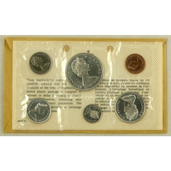 Canada Proof Like Coin Set 1962-67 Obverse