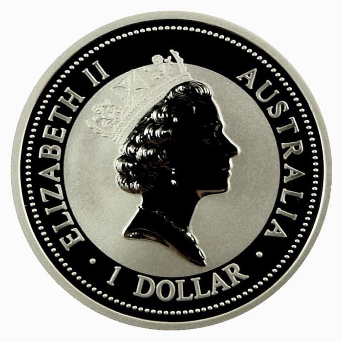 1996 Australian 1 Oz Silver Kookaburra Coin Obverse