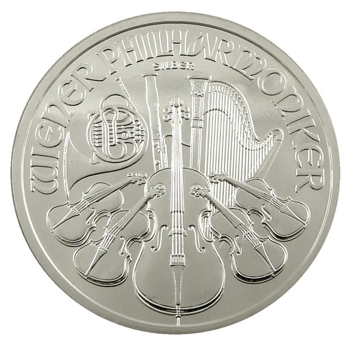 BU 2009 1 oz Silver Austrian Philharmonic Coin Reverse