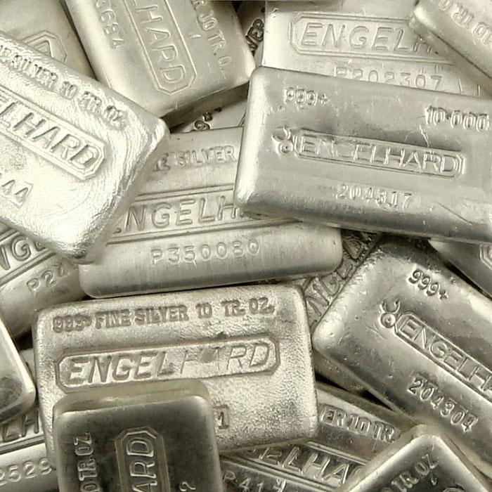 Engelhard 10 oz .999 Fine Silver Loaf Bars
