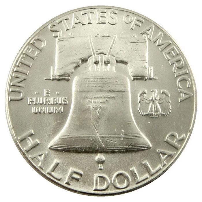 1961 P Franklin Half Dollar Coin Reverse