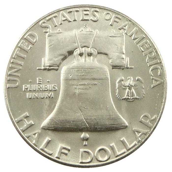 1954 S Franklin Half Dollar Coin Reverse
