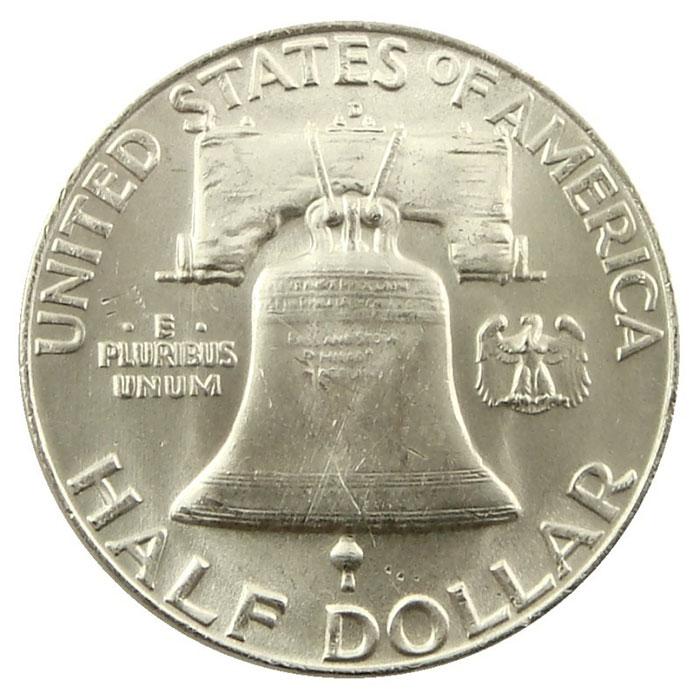 1953 D Franklin Half Dollar Coin Reverse