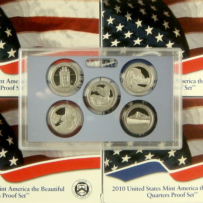2010 America the Beautiful Quarters Only Proof Set