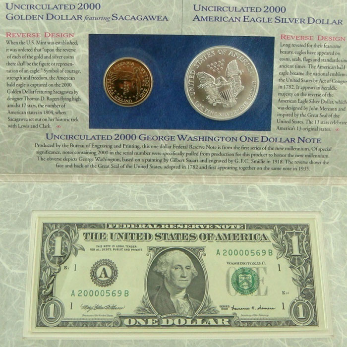 2000 US Mint Millennium Coinage & Currency Sets