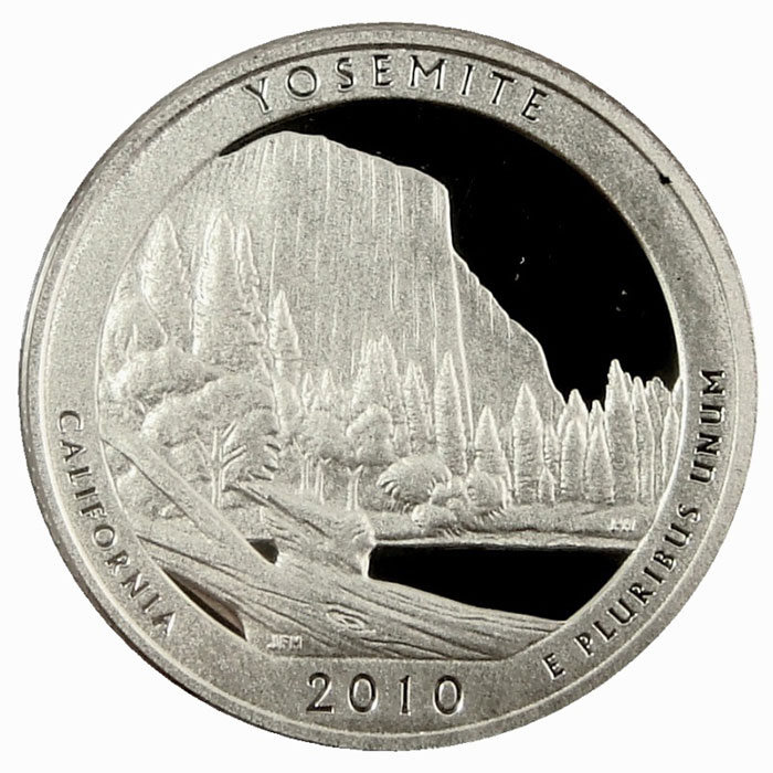 Yosemite National Park 2010 America the Beautiful Quarters Only Proof Set