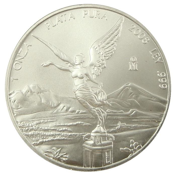 2008 Mexican Silver Libertad 1 oz Coin-0
