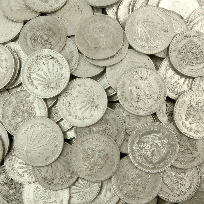 Circulated Mexico 1 Peso Silver Coins