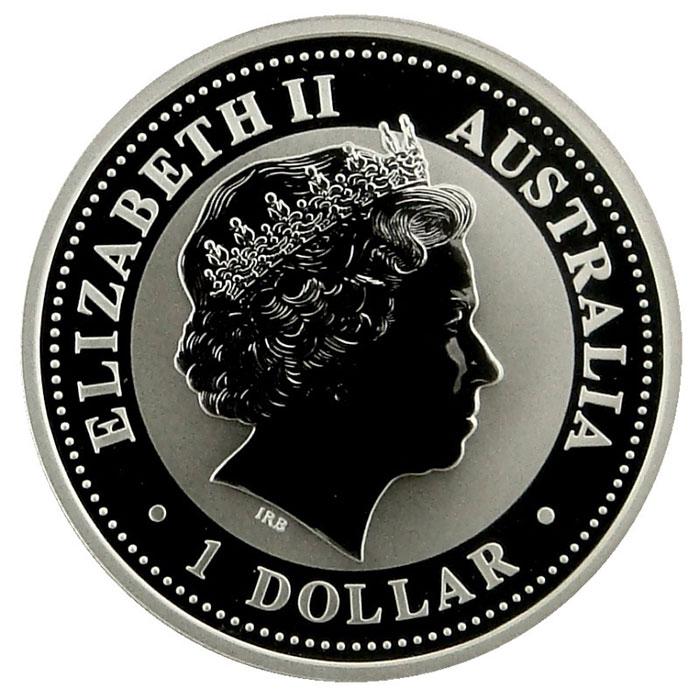 2005 Australian 1 Oz. Silver Kookaburra Coin Obverse