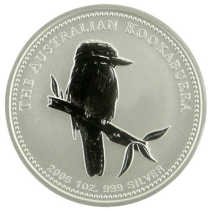 2005 Australian 1 Oz. Silver Kookaburra Coin Reverse