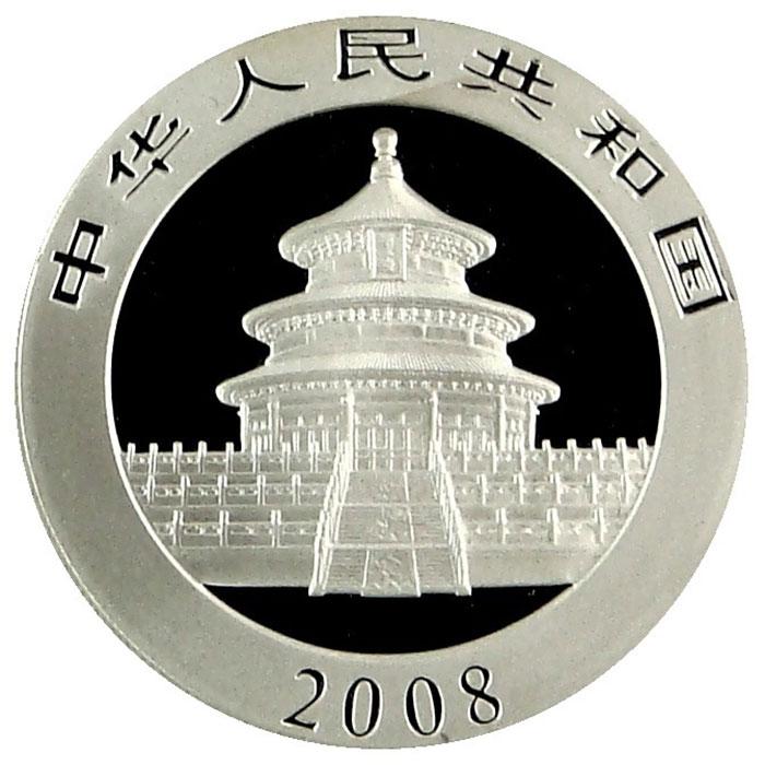 2008 1 oz Chinese Silver Panda-6359