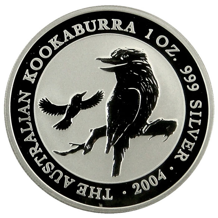2004 Australian 1 Oz. Silver Kookaburra Coin Reverse