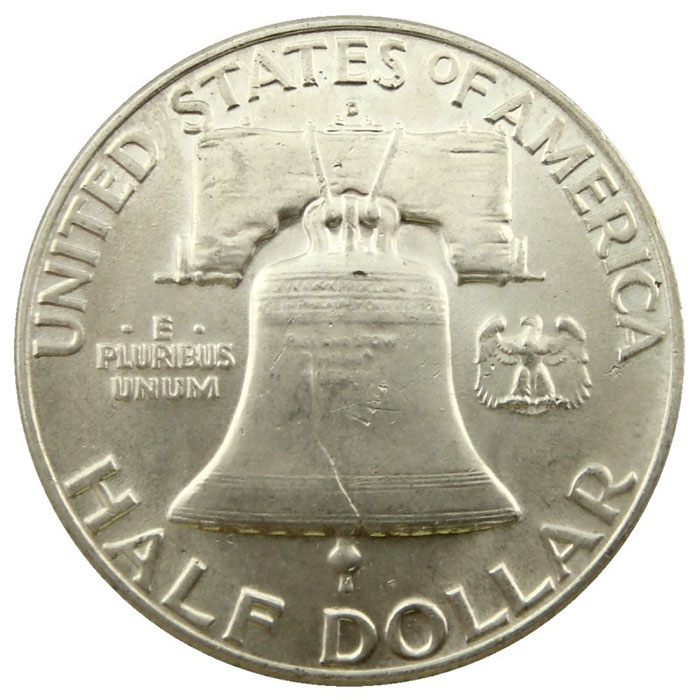 Uncirculated 1949 D Franklin Half Dollar Coin Reverse