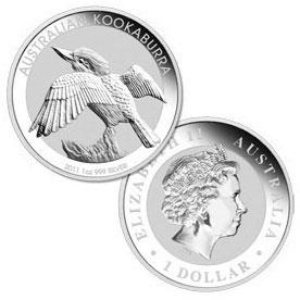 2011 Australian 1 Oz. Silver Kookaburra Coins
