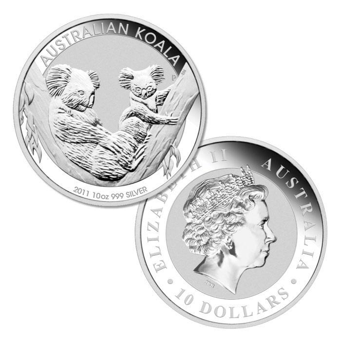 2011 Australian Silver Koala | 10 oz .999 Fine Silver Coin-0