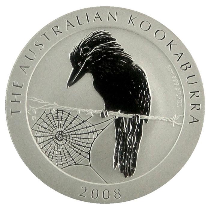 2008 Australian 1 Oz. Silver Kookaburra Coin Reverse
