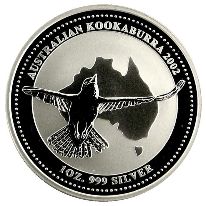 2002 Australian 1 Oz. Silver Kookaburra Coin Reverse