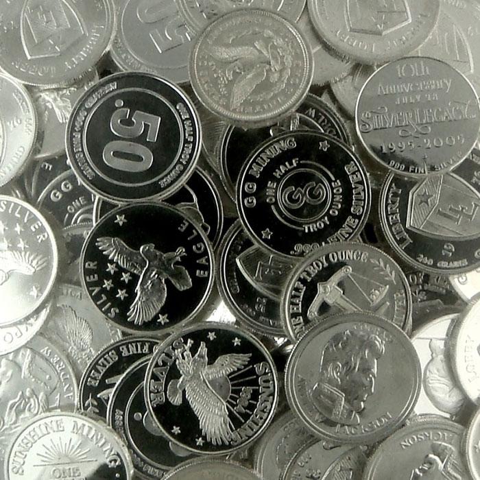 1/2 oz .999 Fine Silver Rounds