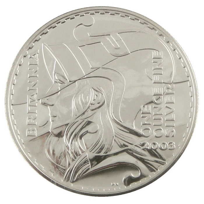 2003 1 oz Silver Britannia-0