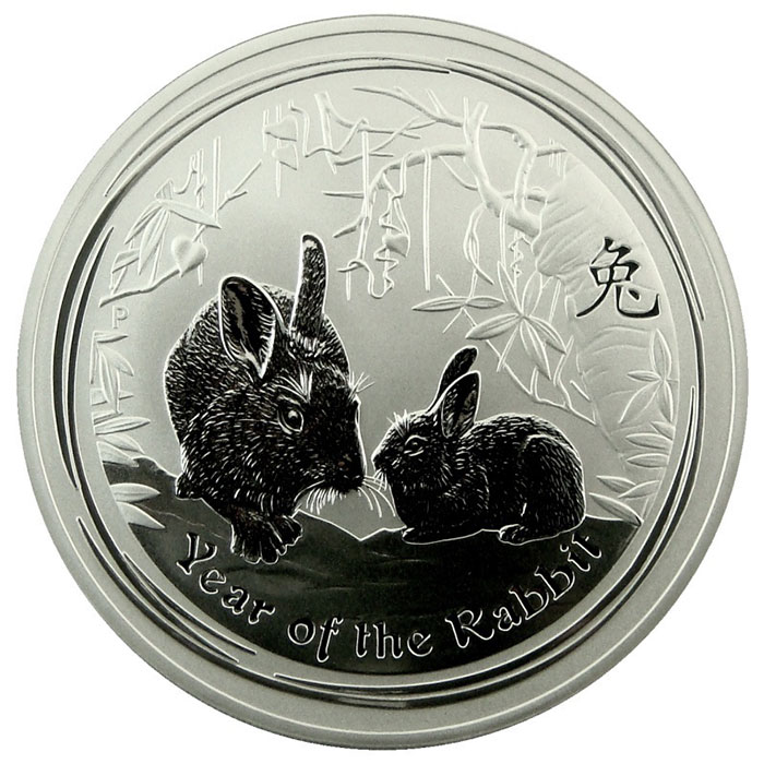 2011 Year of the Rabbit 10 oz Silver Coin | .999 Fine Silver-0