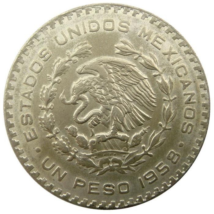 1957-1967 Mexico 1 Peso Silver Coin | Circulated or Better-4413