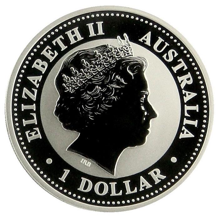 2008 Australian 1 Oz. Silver Kookaburra Coin Obverse