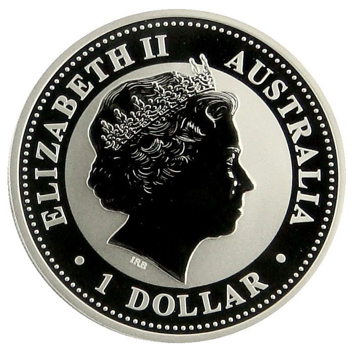 2002 Australian 1 Oz. Silver Kookaburra Coin Obverse