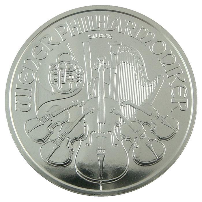 2008 1 oz Silver Austrian Philharmonics   BU
