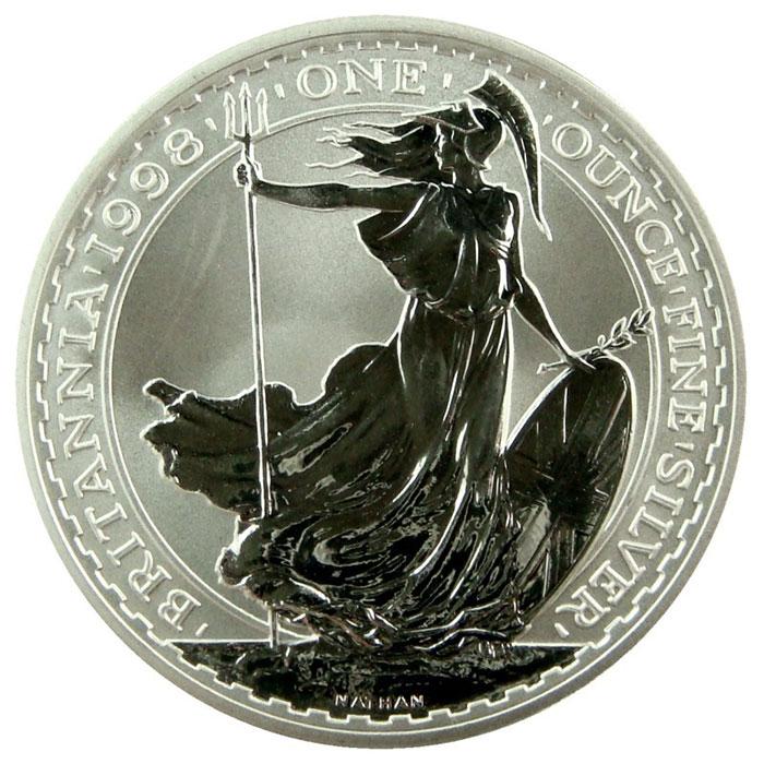 1998 1 oz Silver Britannia-0