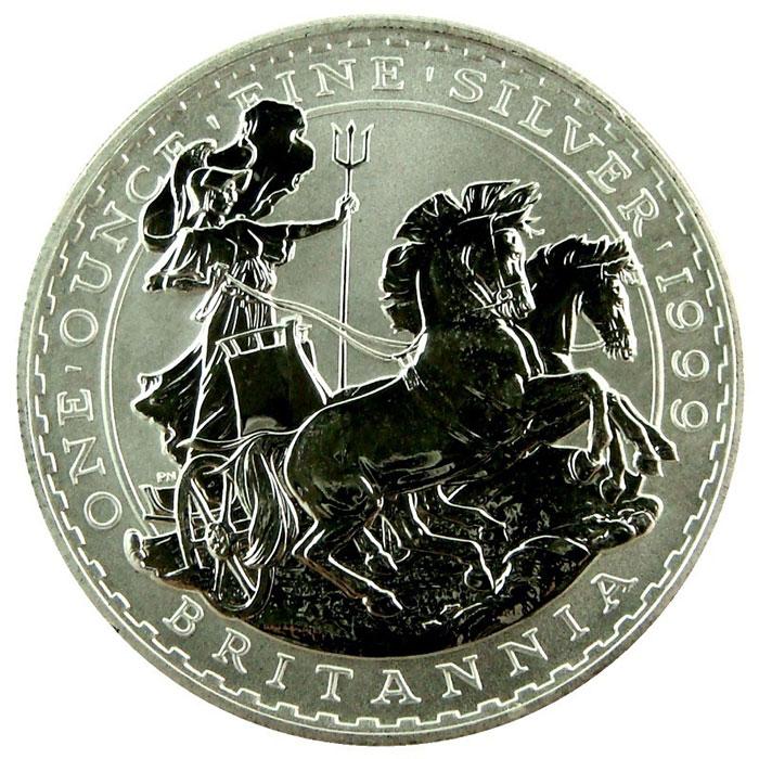 1999 1 oz Silver Britannia-0