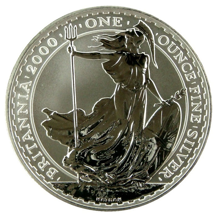 2000 1 oz Silver Britannia-0