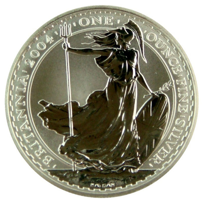 2004 1 oz Silver Britannia-0